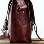 LA SACOCHE (M) besace en cuir souple couleur Brun d'automne format A4 style Vintage PAUL MARIUS de la marque Paul Marius image 5 produit
