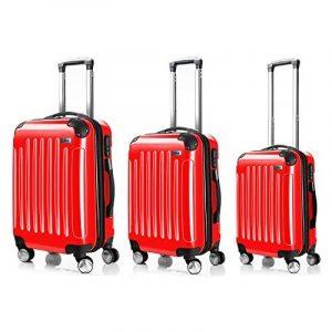 LDUDU ® Valise rigide à 4 doubles roues,Bagages avec 4 doubles roues 360°,coque rigide de la marque LDUDU image 0 produit