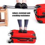 LDUDU ® Valise rigide à 4 doubles roues,Bagages avec 4 doubles roues 360°,coque rigide de la marque LDUDU image 1 produit