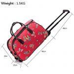 LeahWard Bagage de grande qualité pour les femmes Canvas Butterfly / Owl Print Sacs de voyage avec valise de roue Sacs à main CW308 de la marque LeahWard® image 2 produit