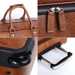 Leathario sac de voyage à roulette valise rigide valise cabine cuir sac véritable roulette valise de la marque Leathario image 4 produit