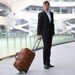 Leathario sac de voyage à roulette valise rigide valise cabine cuir sac véritable roulette valise de la marque Leathario image 5 produit
