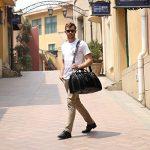 Leathario Sac de Voyage en Cuir Homme Cabas de Voyage Sac en cuir de week-end Sac Bagage Cabine Marron ou Noir de la marque Leathario image 1 produit