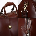 Leathario,sac en cuir, sac voyage en cuir, sac bandouliere, sac voyage, homme, sac a main, ¨¤ l'epaule de la marque Leathario image 4 produit