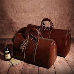 Leathario,sac en cuir, sac voyage en cuir, sac bandouliere, sac voyage, homme, sac a main, ¨¤ l'epaule de la marque Leathario image 6 produit