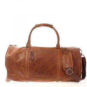 LECONI sac voyage femme homme sac en cuir besace weekend sac de sport nature 53x28x28cm LE2004 de la marque Leconi image 0 produit