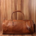 LECONI sac voyage femme homme sac en cuir besace weekend sac de sport nature 53x28x28cm LE2004 de la marque Leconi image 5 produit