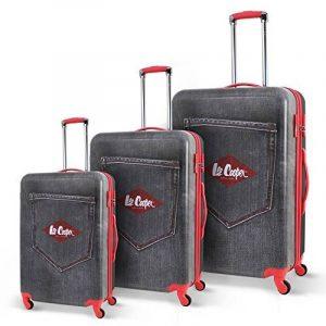 LEE COOPER Set de 3 Valises Rigide ABS & Polycarbonate 4 Roues 49-59-69cm DENIM Bleu de la marque Lee Cooper image 0 produit