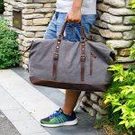 Lifewit Sac de Voyage à Main Grand Fourre-Tout en Toile et Cuir sac de week-end 21 pouces de la marque Lifewit image 6 produit