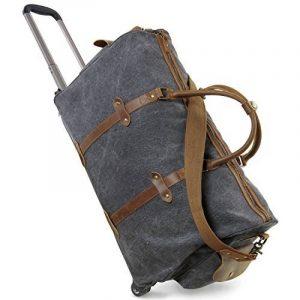 Lifewit Sac de Voyage à Roulettes en Cuir et Toile bagage Solide Sac de Weekend 21 pouces de la marque Lifewit image 0 produit