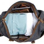 Lifewit Sac de Voyage à Roulettes en Cuir et Toile bagage Solide Sac de Weekend 21 pouces de la marque Lifewit image 5 produit