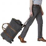 Lifewit Sac de Voyage à Roulettes en Cuir et Toile bagage Solide Sac de Weekend 21 pouces de la marque Lifewit image 6 produit