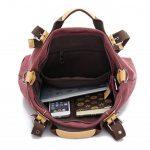 LOSMILE toile Vintage Grand Sac à Main,Sacs portés épaule,Sac bandoulière en tissu pour Femme/fille. de la marque LOSMILE image 5 produit