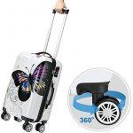 Lot 3 valises M, L, XL Butterfly rigides renforcées set de voyage avec verrou - roulettes 360° de la marque Deuba image 1 produit