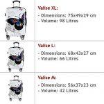Lot 3 valises M, L, XL Butterfly rigides renforcées set de voyage avec verrou - roulettes 360° de la marque Deuba image 2 produit