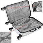 Lot 3 valises M, L, XL Butterfly rigides renforcées set de voyage avec verrou - roulettes 360° de la marque Deuba image 4 produit