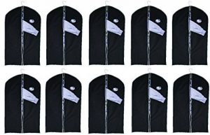 Lot de 10housses pour vêtement avec fenêtre - env. 100x 60cm de la marque Vertrieb durch Preiswert und Gut image 0 produit