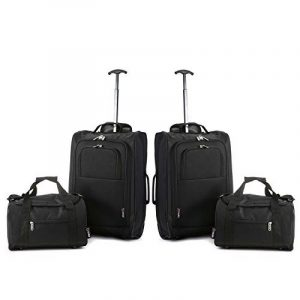 Lot de 2 Ryanair Cabin 55x40x20cm Approuvé & Second 35x20x20 Main Luggage Set - Carry On Les deux articles! de la marque 5 Cities image 0 produit