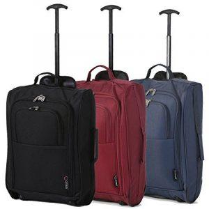 Lot de 3 Super léger de voyage bagages Cabine Valise Wheely Sacs Sac à Roulettes de la marque 5 Cities image 0 produit