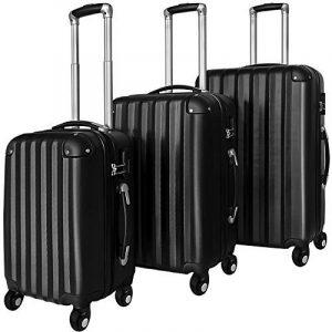 Lot de 3 valises renforcées set de voyage - 3 valises verrou - couleur au choix de la marque Deuba image 0 produit