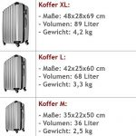 Lot de 3 valises renforcées set de voyage - 3 valises verrou - couleur au choix de la marque Deuba image 4 produit