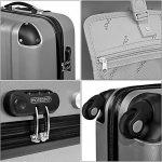 Lot de 3 valises renforcées set de voyage - 3 valises verrou - couleur au choix de la marque Deuba image 6 produit