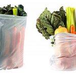 Lot de 9 sacs en maille réutilisables RYBit + 1 sac de courses éco pliable. Pour le linge, les voyages, la plage, le sport et le rangement des courses. Lavables en machine. Sans BPA. 3 tailles de la marque RYBit image 2 produit
