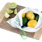 Lot de 9 sacs en maille réutilisables RYBit + 1 sac de courses éco pliable. Pour le linge, les voyages, la plage, le sport et le rangement des courses. Lavables en machine. Sans BPA. 3 tailles de la marque RYBit image 5 produit