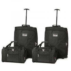 Main Ryanair Maximum bagages 4 Piece Set - 2x 55x40x20cm Trolley Bag + 2x 35x20x20cm 2me cabine Sac fourre-tout - Emballez le Max & prendre les deux ˆ bord! de la marque 5 Cities image 0 produit