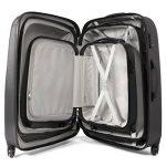 Master Gear 3valises en ABS avec fermeture éclair | 4rouleaux (360°)–Trolley, Valise, Valise rigide, TSA, empilable–S, M, L de la marque MasterGear image 4 produit