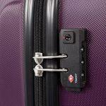 Master Gear Bagage à main Valise en ABS avec fermeture éclair | 4rouleaux (360°) | Trolley, Valise, Valise rigide, TSA | Convient pour de nombreux Compagnies Aériennes de la marque MasterGear image 6 produit