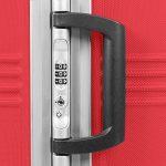 MasterGear - Ensemble de 3 Valises ABS à Fermeture éclair ultra légère et mobile - 4 Roulettes (360 °) - Valise à Roulettes - Rigide - Cadenas TSA - Emboîtables - Tailles S, M, L - Rouge de la marque MasterGear image 4 produit