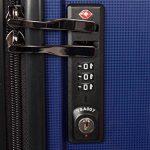 MasterGear - Set de 3 Valises en polypropylène à Fermeture éclair ultra légère et mobile - 4 Roulettes (360 °) - Valise rigide - Cadenas TSA - Emboîtables - Tailles S, M, L - Bleu de la marque MasterGear image 4 produit