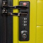 MasterGear - Set de 3 Valises en polypropylène à Fermeture éclair ultra légère et mobile - 4 Roulettes (360 °) - Valise rigide - Cadenas TSA - Emboîtables - Tailles S, M, L - Vert olive de la marque MasterGear image 4 produit