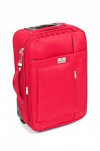 MasterGear - Valise à Roulettes - Bagage à main - Taille Cabine: 55 x 35 x 20 cm - Avec Cadenas - Rouge de la marque MasterGear image 0 produit