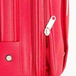 MasterGear - Valise à Roulettes - Bagage à main - Taille Cabine: 55 x 35 x 20 cm - Avec Cadenas - Rouge de la marque MasterGear image 4 produit