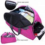 MIER Half Dome Gym Sac de sport Week-end Voyage Holdall avec compartiment à chaussures pour les femmes et les hommes, 2 couleurs de la marque MIER image 6 produit