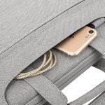 MOSISO Sac Portable épaule, Polyester Porte-documents Carry Case Cover pour 13 - 13,3 pouces MacBook ordinateur portable Retour Ceinture pour Trolley, Clair Gris de la marque Mosiso image 1 produit