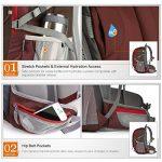 Mountaintop 40L Sac à Dos Mixte Pour Camping/Voyage/Randonnée 35 x 55 x 25 cm de la marque MOUNTAINTOP image 6 produit