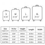 OneSky-UK Housse de bagage, housse de protection personnalisée et durable, taille de protection de valise adaptée à 18-32 pouces de la marque OneSky-UK image 6 produit