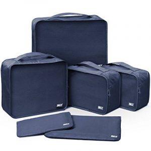 Organisateurs de voyage - BEZ® Lot de 6 Sacs de rangement bagages emballant des cubes, Bleu de la marque BEZ® image 0 produit