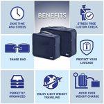 Organisateurs de voyage - BEZ® Lot de 6 Sacs de rangement bagages emballant des cubes, Bleu de la marque BEZ® image 5 produit