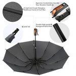 Parapluie pliant, Carttiya Parapluie de Voyage Ouverture et Fermeture Automatique Coupe-vent 10 Ribs de la marque Carttiya image 2 produit