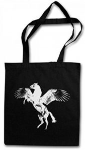 PEGASUS II Réutilisable Pochette Sac De Courses en Coton Hipster Reusable Shopping Bag – grecque Pégase Flying Pegasi Pferd Horse Greek Mythology Tailles de la marque Urban Backwoods image 0 produit