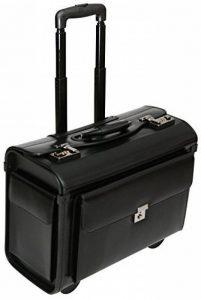 """Porte-documents à roulettes - pour ordinateur portable de 16 """"/style business/taille cabine - cuir de la marque Tassia image 0 produit"""
