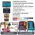 PRO Packing Cubes | Ensemble économique de sacs de rangement de voyage 4 pièces | Sacs économisant 30% de place | Organiseurs de bagage ultralégers | Idéal pour les sacs de voyage & valises de cabine de la marque Pro Packing Cubes image 6 produit