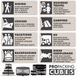 PRO Packing Cubes | Ensemble économique de sacs de rangement de voyage 4 pièces | Sacs économisant 30% de place | Organiseurs de bagage ultralégers | Idéal pour les sacs de voyage & valises de cabine de la marque Pro Packing Cubes image 1 produit