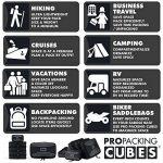 PRO Packing Cubes | Ensemble économique de sacs de rangement de voyage 5 pièces | Sacs économisant 30% de place | Organiseurs de bagage ultralégers | Idéal pour les sacs de voyage & valises de cabine de la marque Pro Packing Cubes image 1 produit