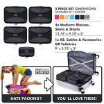 PRO Packing Cubes | Ensemble économique de sacs de rangement de voyage 5 pièces | Sacs économisant 30% de place | Organiseurs de bagage ultralégers | Idéal pour les sacs de voyage & valises de cabine de la marque Pro Packing Cubes image 6 produit