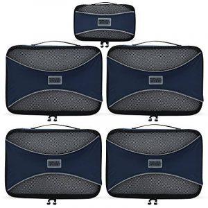 PRO Packing Cubes | Ensemble économique de sacs de rangement de voyage 5 pièces | Sacs économisant 30% de place | Organiseurs de bagage ultralégers | Idéal pour les sacs de voyage & valises de cabine de la marque Pro Packing Cubes image 0 produit